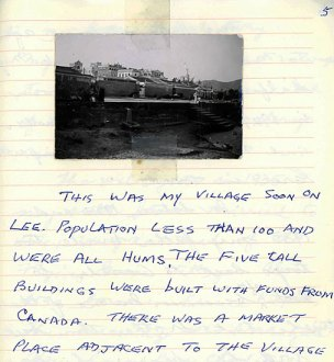 Joe Hum's memoir (unpublished), p. 5, Photograph of his ancestral village in China. (Courtesy of Peter Hum)