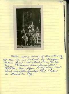 Joe Hum's memoir (unpublished), p. 27<br />Photograph: Students at Chinese School in Ottawa. (Courtesy of Peter Hum)
